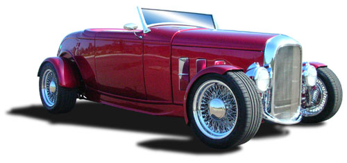 1932 Ford open wheel roadster with floating fenders, photo thanks Hot Rods & Custom Stuff